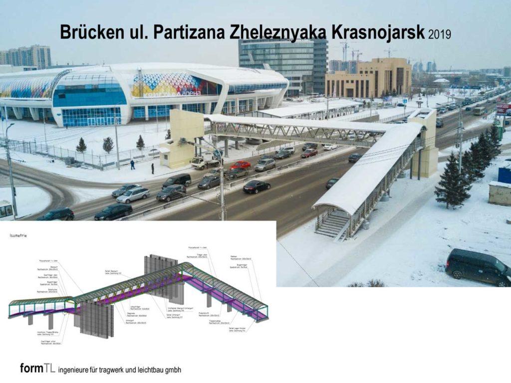 Brücken ul. Partizana Zheleznyaka Krasnojarsk